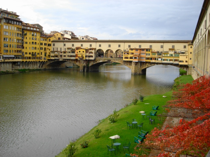 Foto que tirei do rio do Arno quando estive em Florença