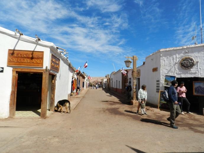 Calle Caracoles, a principal da cidade de San Pedro de Atacama
